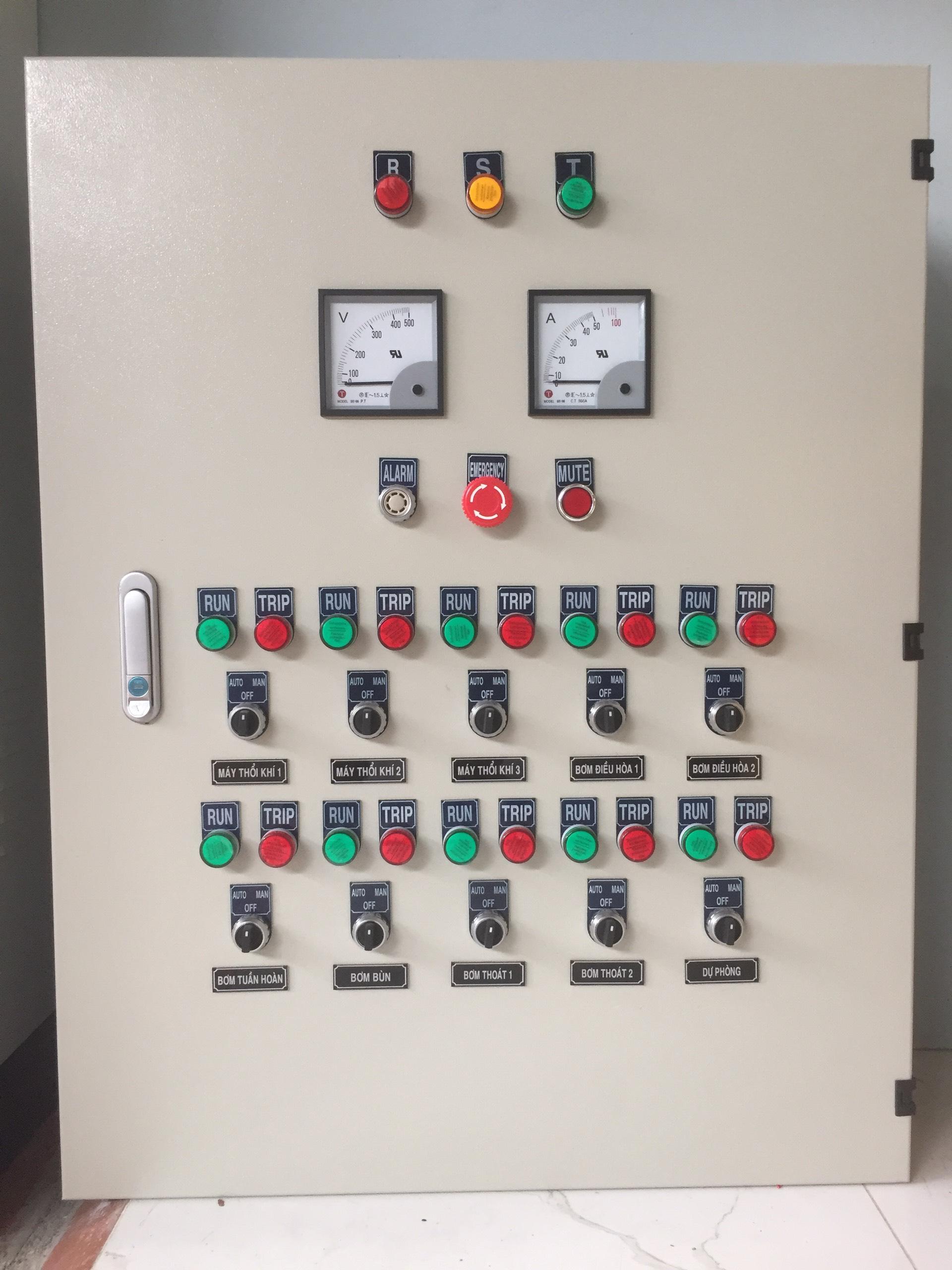 Tủ Điện Điều Khiển Hệ Thống XLNT Khách Sạn