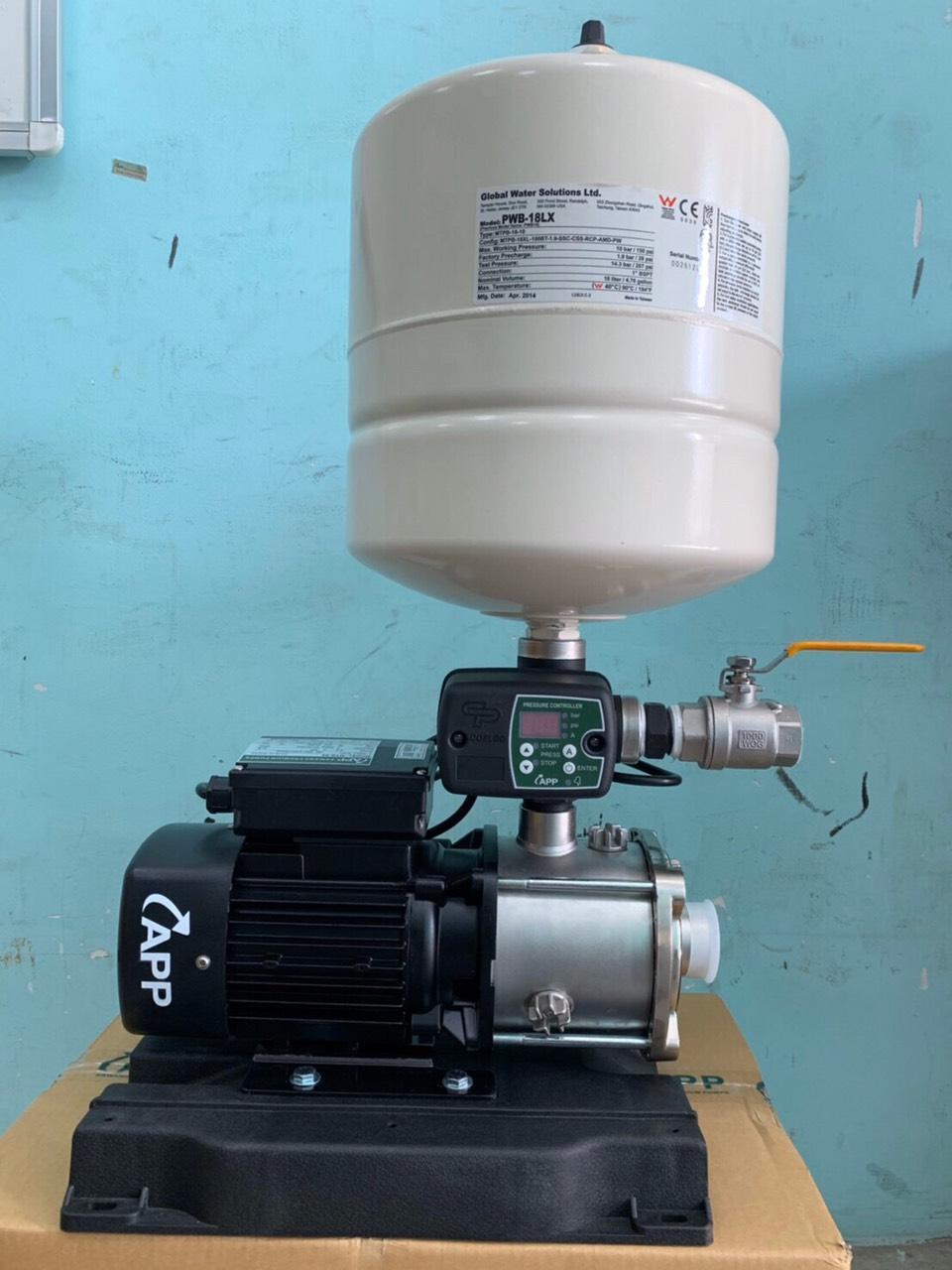 Bơm tăng áp sử dụng biến tần APP VFD-33