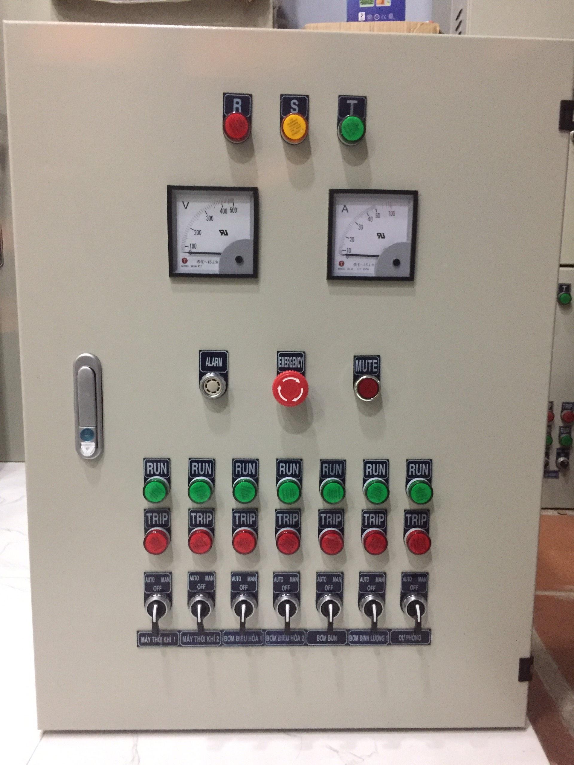 Tủ Điện Điều Khiển Hệ Thống XLNT Chợ